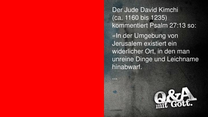 Der Jude David Kimchi