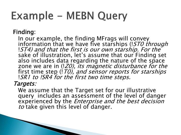Example - MEBN Query