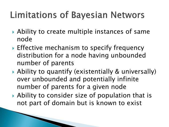 Limitations of Bayesian