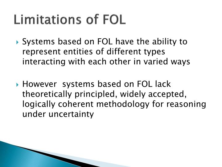 Limitations of FOL