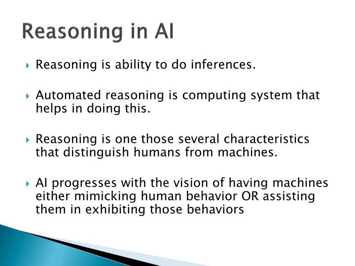 Reasoning in AI