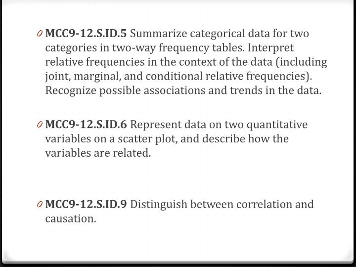 MCC9-12.S.ID.5
