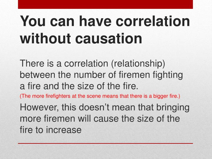 There is a correlation (relationship)