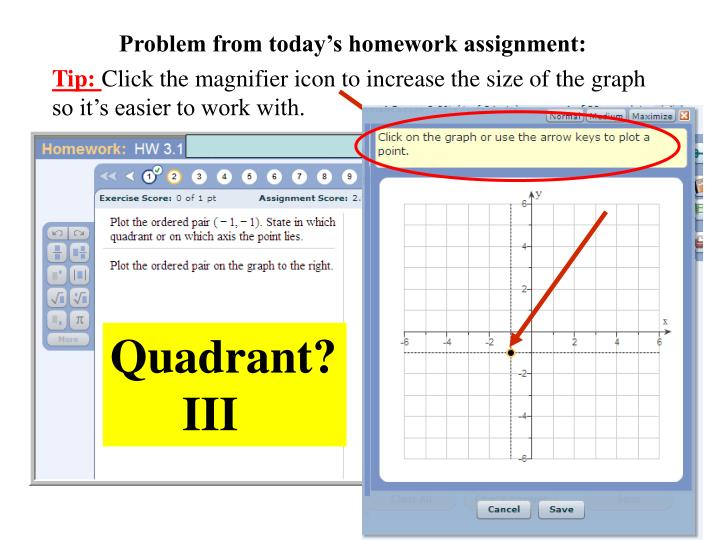 Problem from today's homework assignment:
