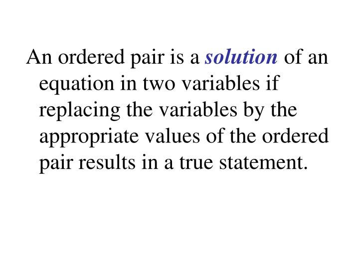 An ordered pair is a