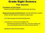 grade eight science two courses