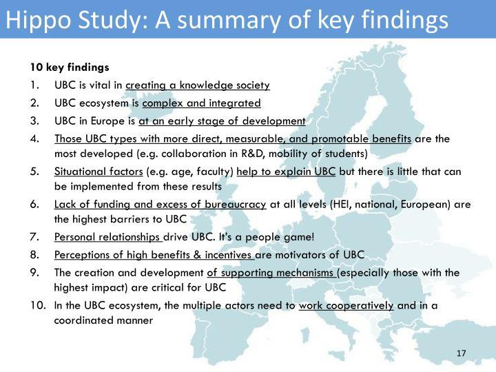 Hippo Study: A summary of key findings