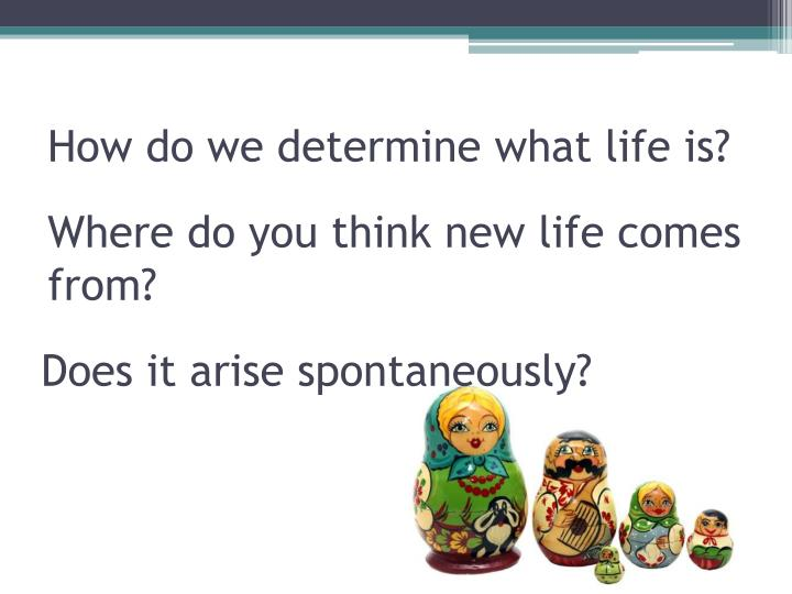 How do we determine what life is?