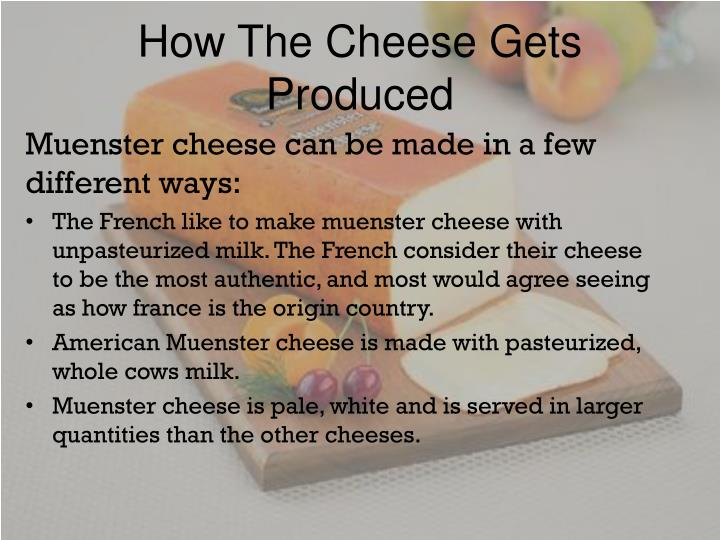 How The Cheese Gets Produced