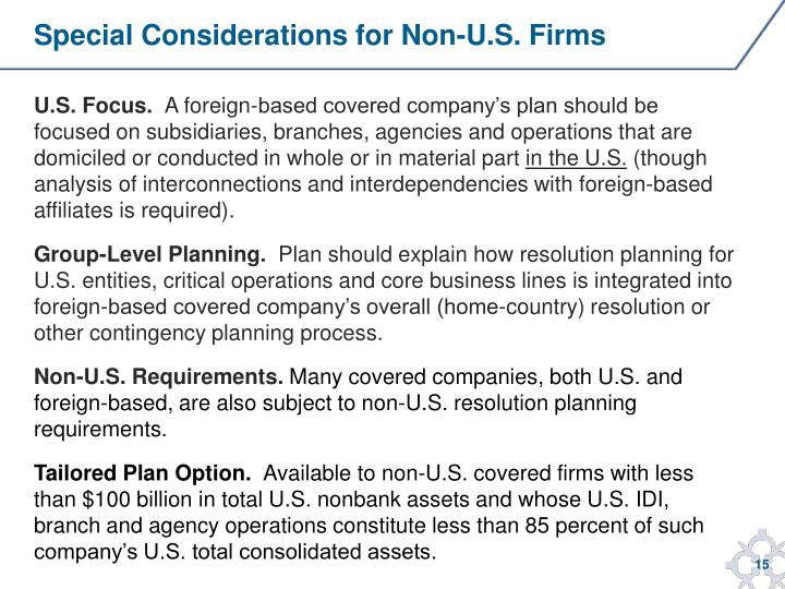 Special Considerations for Non-U.S. Firms