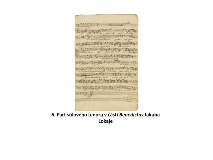 6. Part sólového tenoru v části