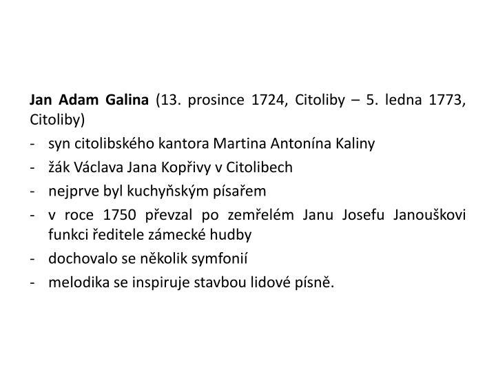 Jan Adam Galina