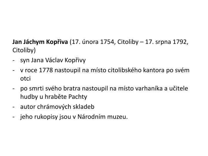 Jan Jáchym Kopřiva