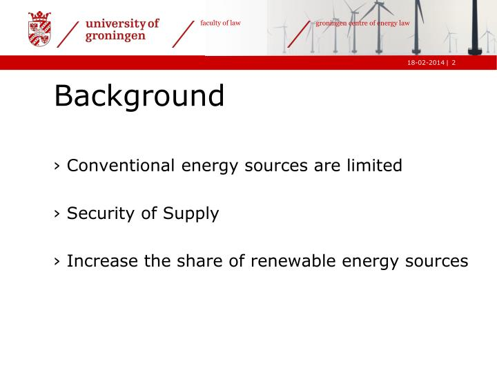 Conventional energy sources are limited