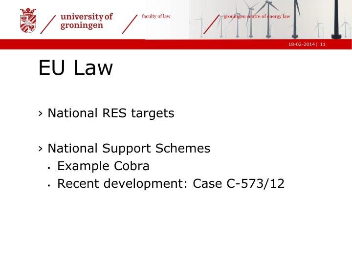 National RES targets