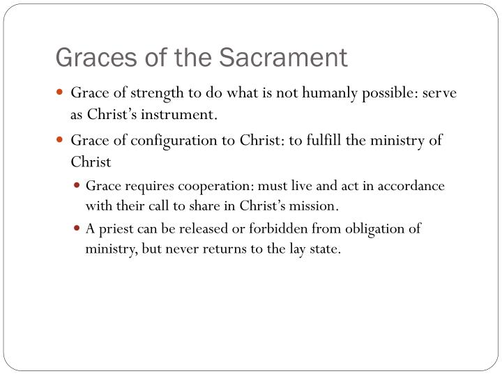 Graces of the Sacrament