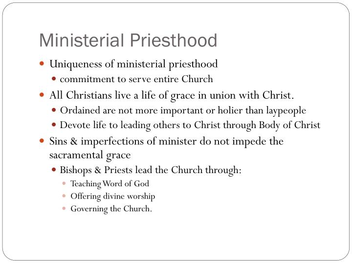Ministerial Priesthood