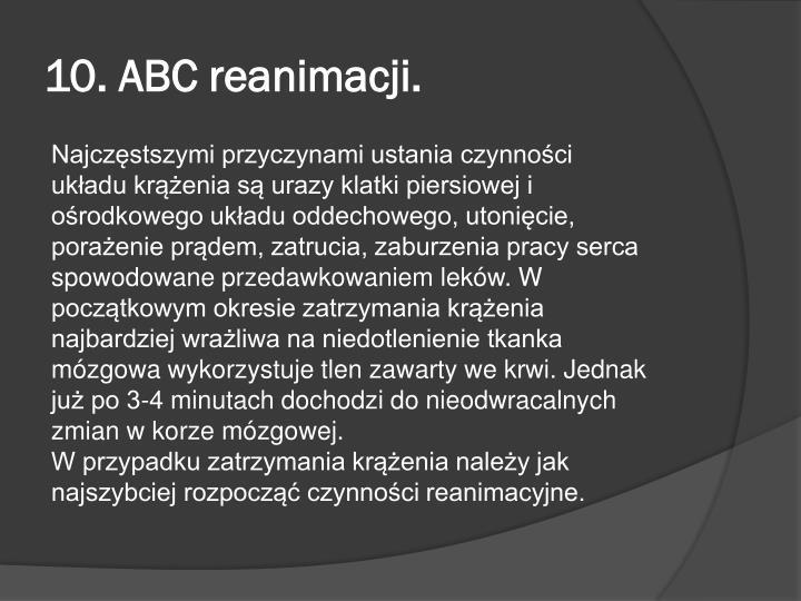 10. ABC reanimacji.