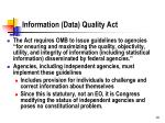 information data quality act
