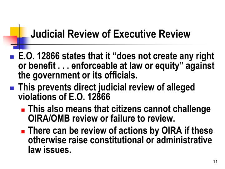 Judicial Review of Executive Review