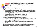 oira review of significant regulatory actions