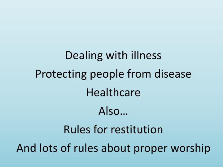 Dealing with illness