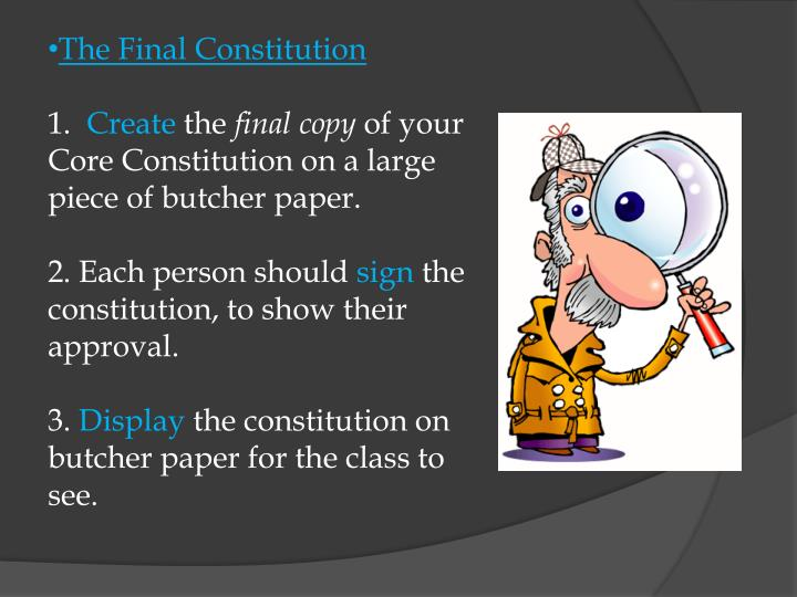 The Final Constitution