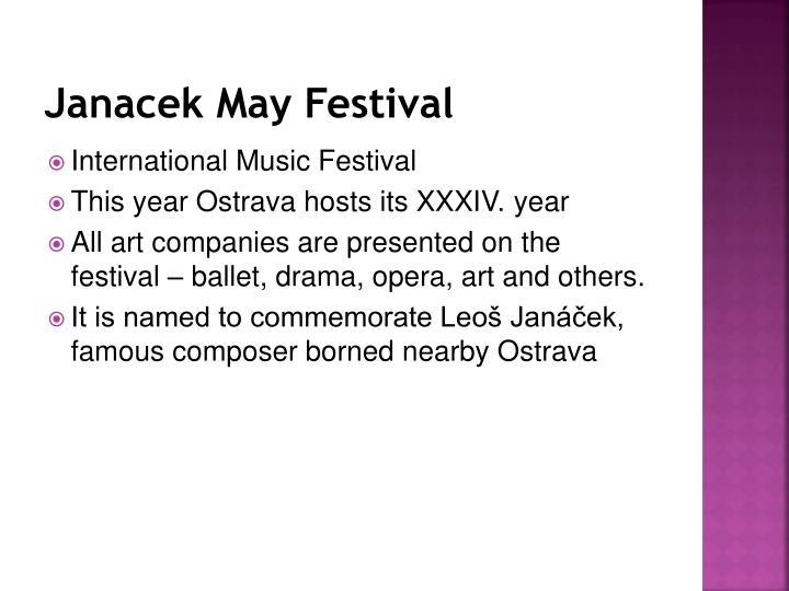Janacek May Festival