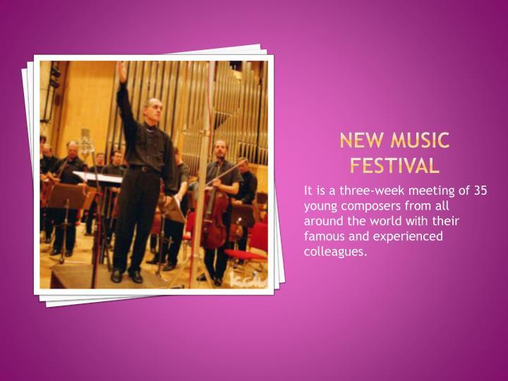 New music festival