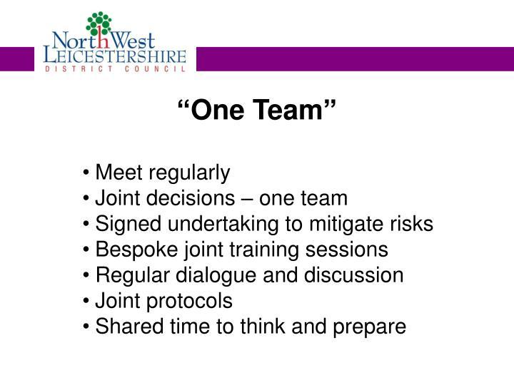 """One Team"""