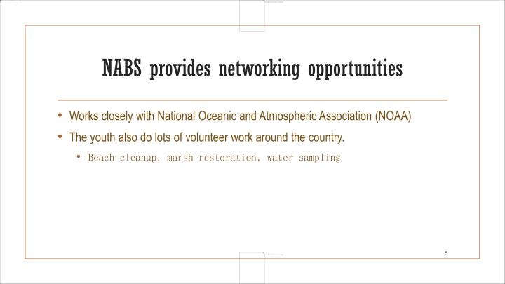 NABS provides networking opportunities