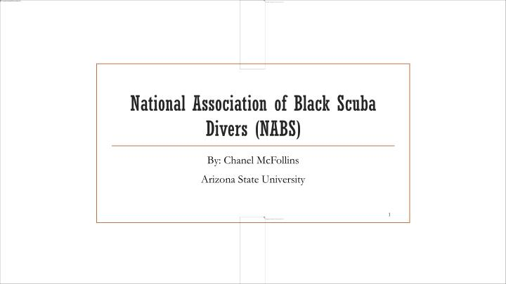 National association of black scuba divers nabs