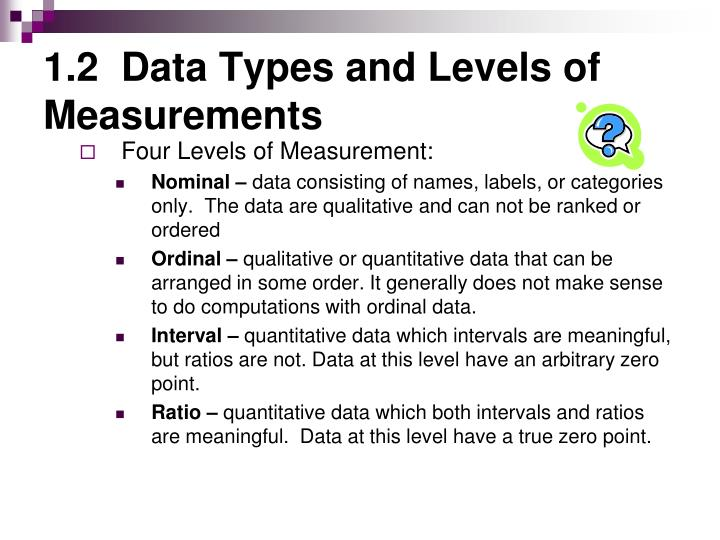 1 2 data types and levels of measurements1