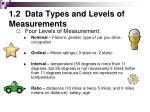 1 2 data types and levels of measurements2