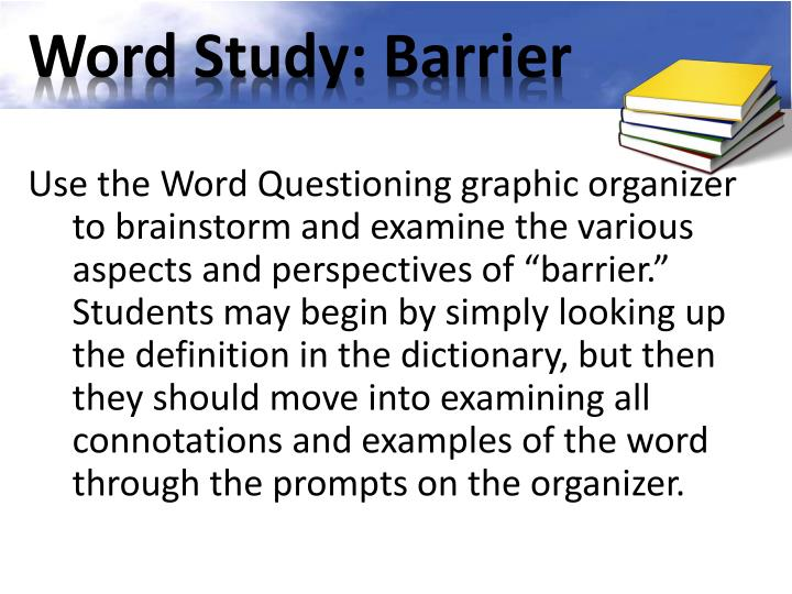 Word Study: Barrier