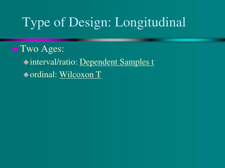 Type of Design: Longitudinal