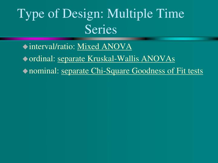 Type of Design: Multiple Time Series