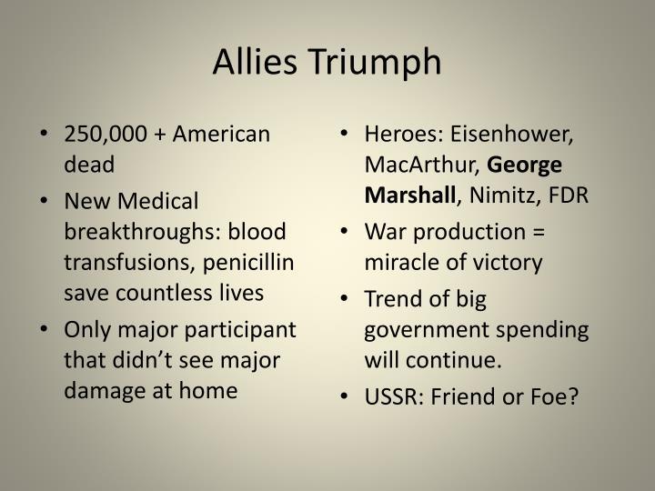Allies Triumph