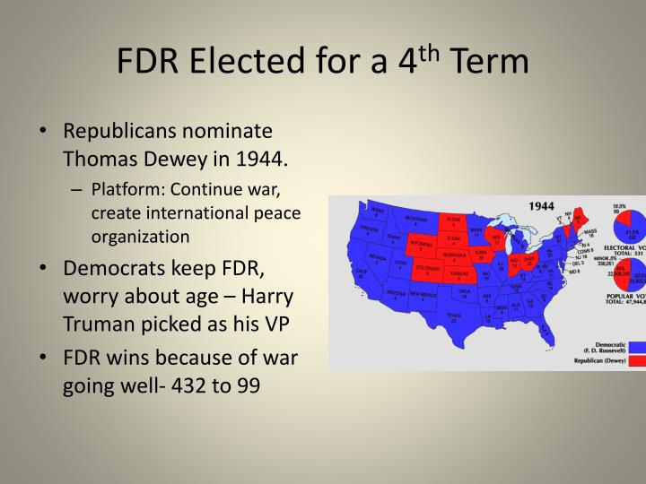 FDR Elected for a 4