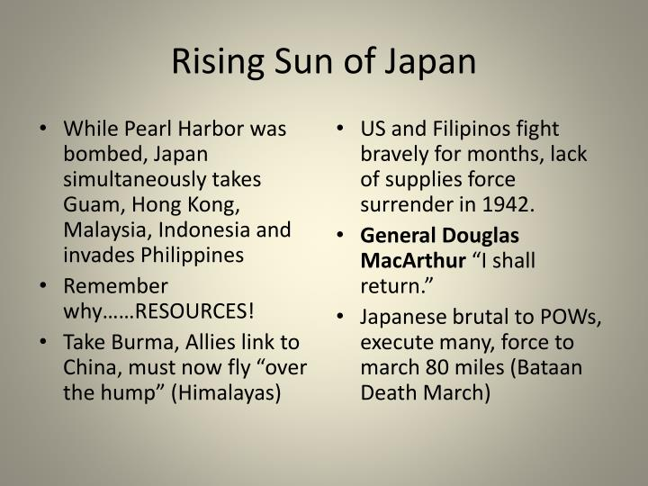 Rising Sun of Japan