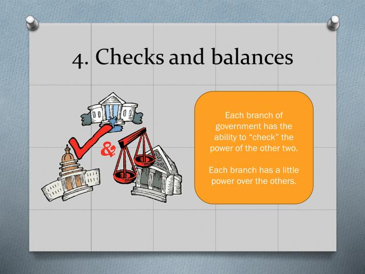 4. Checks and balances
