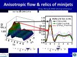 anisotropic flow relics of minijets