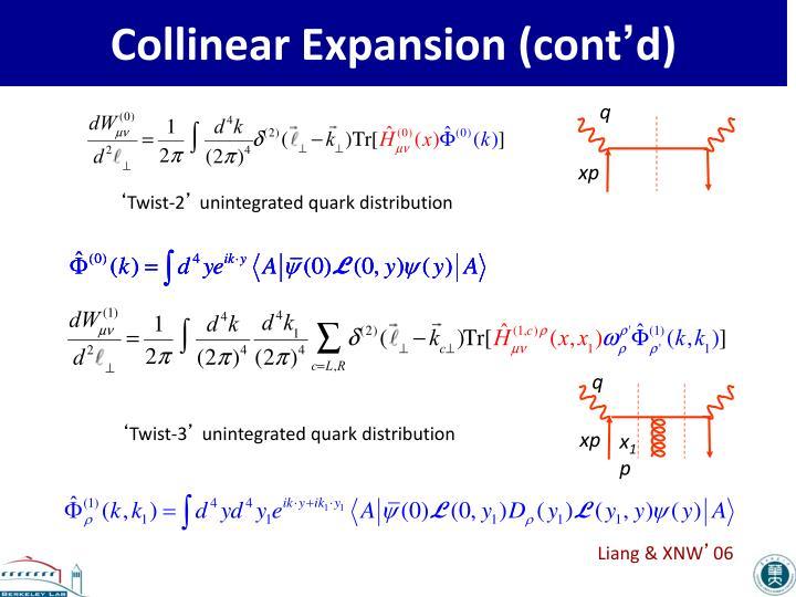Collinear Expansion (cont