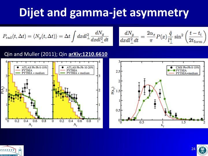Dijet and gamma-jet asymmetry