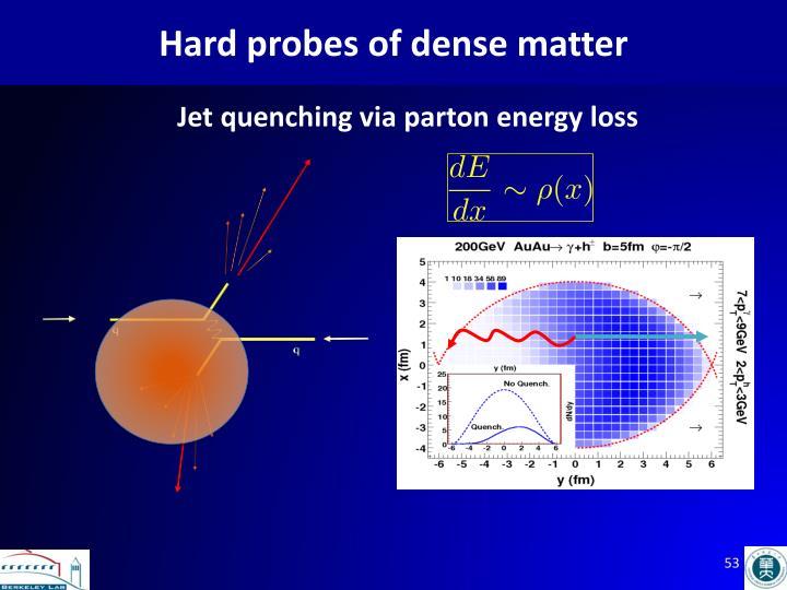 Hard probes of dense matter