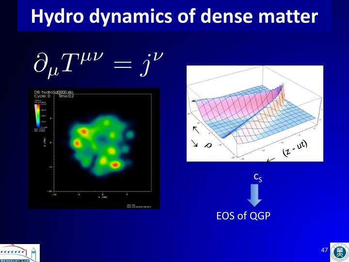 Hydro dynamics of dense matter