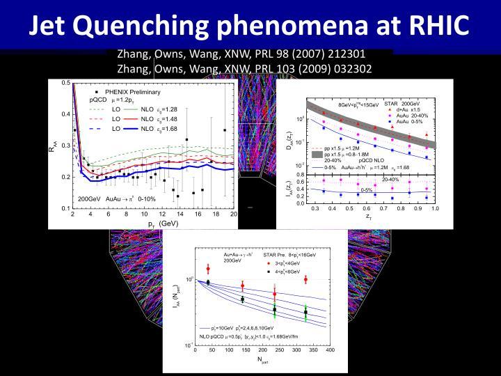 Jet Quenching phenomena at RHIC