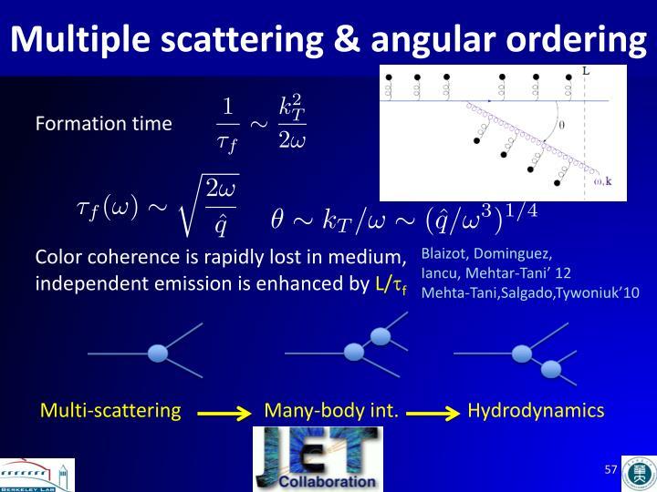 Multiple scattering & angular ordering