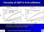 viscosity of qgp in a a collisions