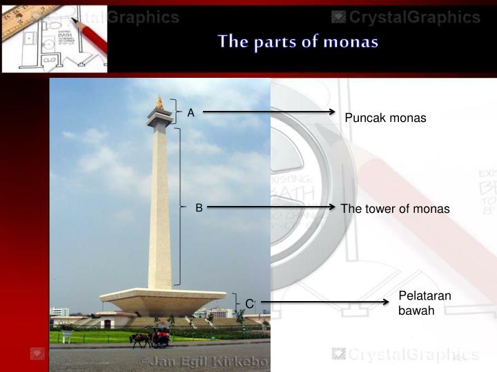 The parts of monas